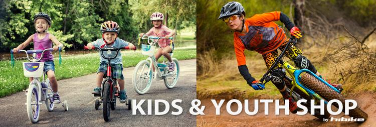 Kids & Youth Shop für Kinder & Teens bei HIBIKE - Alles was die kleine Radler/Radlerinnen brauchen. 12 Zoll Laufrädchen bis 24 Zoll Jugend-MTB, Kinder-Trikots, Shirts und mehr günstig kaufen