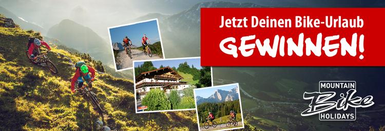 Gewinnspiel - gewinne jetzt Deinen Bike-Urlaub