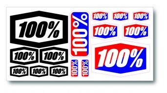 100% Aufkleber Set Decal Kit
