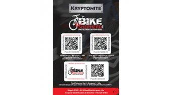 Kryptonite Bike Shepherd ID-Aufkleber