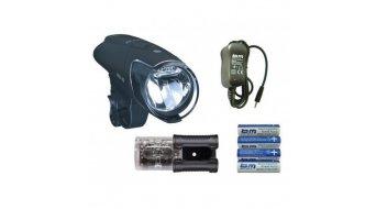 Busch & Müller Ixon IQ Premium LED-Scheinwerfer-Set inkl. Akku & Ladegerät & IXBACK senso Rücklicht