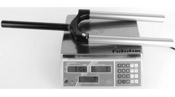 Rock Shox Krone/Schaft/Standrohre Ersatzteile Pike Krone/Standrohreinheit Dual-Air mit Alu-Steuerrohr