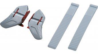 Shimano SH-R320/SH-R170W Ratschen- und Riemenverschluss-Set (Ratsche: silber-rot/Riemen: weiß) (Paar)