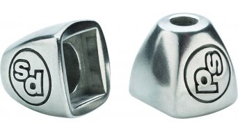Problem Solvers Downtube Shifter Boss Covers, silber
