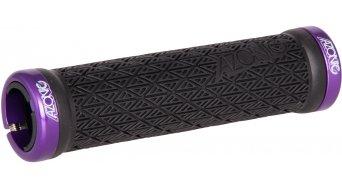 Azonic Logo Lock On Griffe Grip-black-Clamp-purple Mod. 2016