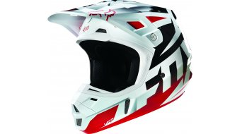 Fox V2 Race Helm Herren MX-Helm red/white