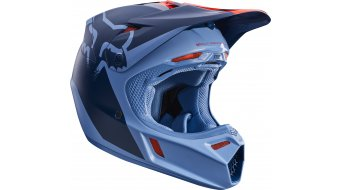 Fox V3 Libra Helm Herren MX-Helm orange/blue