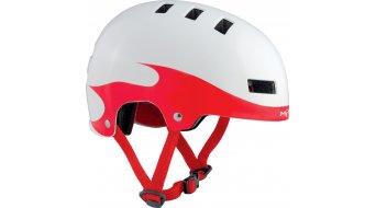 Met Yo-Yo Jugend Helm S (51-55cm) white/red flames - VORFÜHRTEIL ohne Originalverpackung