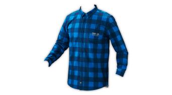 Troy Lee Designs Grind Flannel Hemd langarm Herren-Hemd Gr. L plaid dirty blue