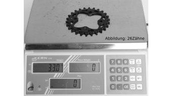 absolute Black XX1 Narrow Wide Kettenblatt 26 Zähne 4-Loch (64mm) schwarz