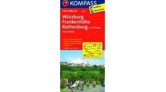 Kompass Radwanderkarte Deutschland Würzburg/Frankenhöhe/Rothenburg - 1:70.000