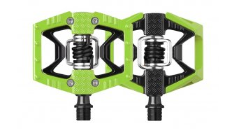 Crank Brothers Double Shot Plattform- / Klick-Pedale black/green Mod. 2016 - Limited Edition