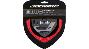 Jagwire Road Elite Sealed Schaltzugset rot