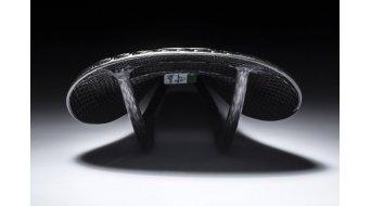 AX Lightness Leaf Leder 3K Carbon Sattel 3K-carbon / Leder schwarz (bis-100kg-Fahrergewicht)