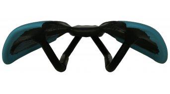 AX Lightness Leaf Plus 3K Carbon Sattel 3K-carbon / Leder cyan (bis-100kg-Fahrergewicht)