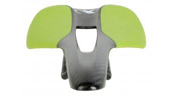 AX Lightness Leaf Plus 3K Carbon Sattel 3K-carbon / Leder grün (bis-100kg-Fahrergewicht)