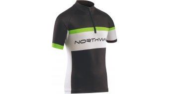 Northwave Logo Trikot kurzarm Kinder-Trikot Jersey Gr. 10 black/green fluo