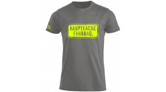 HIBIKE Hauptsache Fahrrad. T-Shirt kurzarm Herren-T-Shirt grau/neon
