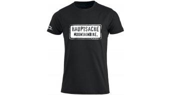 HIBIKE Hauptsache Mountainbike. T-Shirt kurzarm Herren-T-Shirt schwarz/weiß