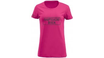 HIBIKE Hauptsache Biken. T-Shirt kurzarm Damen-T-Shirt Gr. S pink/grau