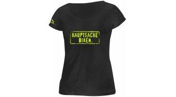 HIBIKE Hauptsache Biken. T-Shirt kurzarm Damen-T-Shirt schwarz/neon