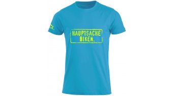 HIBIKE Hauptsache Biken. T-Shirt kurzarm Kinder-T-Shirt türkis/neon