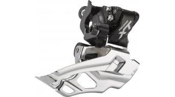 Shimano XT 2x10-fach Umwerfer schwarz 34.9/31.8/28.6mm Down-Swing Dual-Pull 44-38T 66-69° FD-M786-A