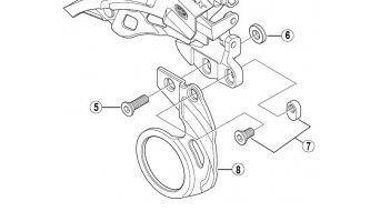 Shimano Halteplatte (E-Type-Tretlagerbefestigung) (Nr. 8)