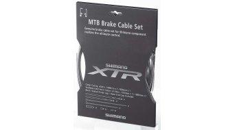 Shimano XTR Bremszug-Set grau komplett mit 2 Zügen und Aderendhülsen